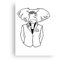 Elephant In a Tux Canvas Print
