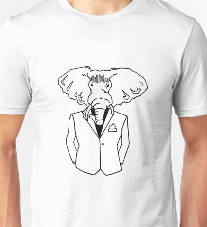Elephant In a Tux Unisex T-Shirt