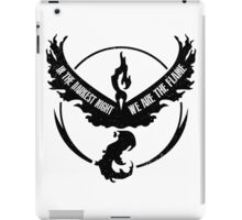 Team Valor - In the Darkest Night, We are the Flame iPad Case/Skin