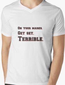 Marks, Set, Terrible Mens V-Neck T-Shirt