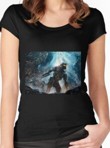 Halo Master Chief Guardians  Women's Fitted Scoop T-Shirt