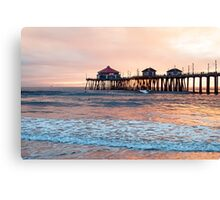 Huntington Beach Pier, Winter Swell Canvas Print