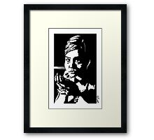 Clara in the dark Framed Print