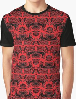 I Love Craft (Cthulhu Damask Red and Black) Graphic T-Shirt