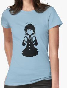 CLANNAD - Furukawa Nagisa Minimalist (Black Edition) Womens Fitted T-Shirt