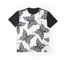 Black and white butterflies. Graphic T-Shirt