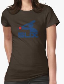 Vintage White Sux Womens Fitted T-Shirt