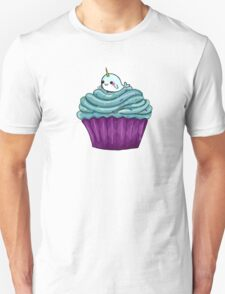 Cupcakes and a cute little unicorn whale Unisex T-Shirt