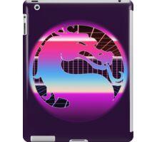 80's Cyber Grid Mortal Kombat Logo iPad Case/Skin