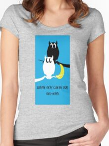 The Fault Our Stars Owl Women's Fitted Scoop T-Shirt