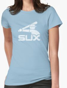 Vintage White Sux - Black Womens Fitted T-Shirt