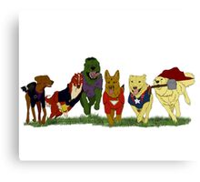Canines Assemble! Canvas Print