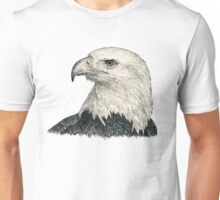 American Bald Eagle - black & white ink graphics Unisex T-Shirt