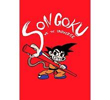 Son Goku vs The Universe Photographic Print