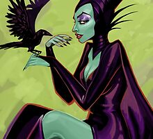 Maleficent Pinup by Jennalee Auclair