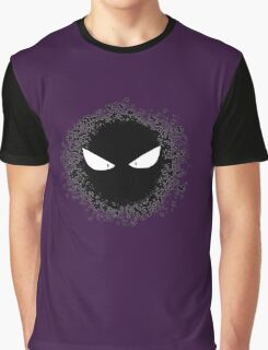 Gastly - Black And White Graphic T-Shirt