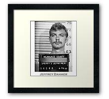Jeffrey Dahmer Serial Killer Mugshot  Framed Print