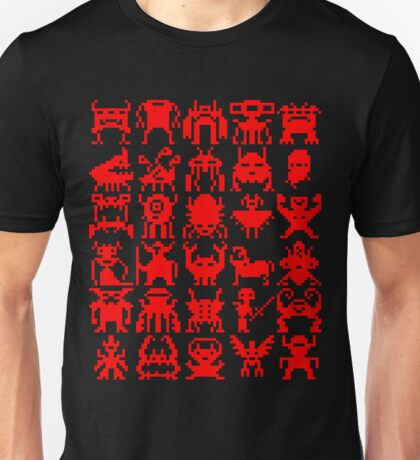 Warp Zone Creatures: Red Unisex T-Shirt