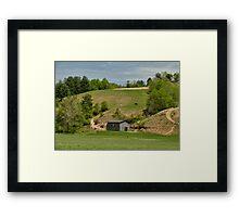 Kentucky Barn Quilt - Americana Star 2 Framed Print