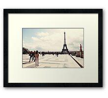 Admiring Eiffel Framed Print