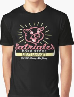 Satriale's - Red Piggy Logo Graphic T-Shirt