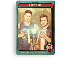 2 Guys 1 Cup AFL Podcast with Wil Anderson and Charlie Clausen Canvas Print