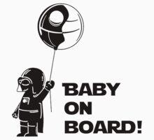 Baby On Board Black Kids Tee