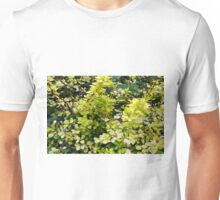 Natural background with yellow green leaves. Unisex T-Shirt