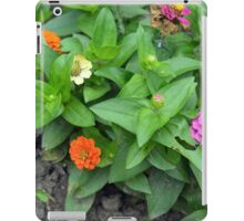 Colorful pink and orange flowers in green leaves bush in the garden. iPad Case/Skin
