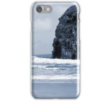 Atlantic waves crashing on Ballybunion beach and cliffs iPhone Case/Skin