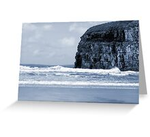 Atlantic waves crashing on Ballybunion beach and cliffs Greeting Card