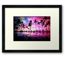 Neon Sunset Framed Print