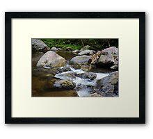Crystal Creek Framed Print