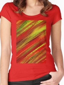 STRIPS Women's Fitted Scoop T-Shirt