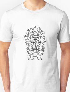 kaktus freund gärtner blumen stacheln blumentopf haariger kleiner süßer niedlicher igel comic cartoon  Unisex T-Shirt