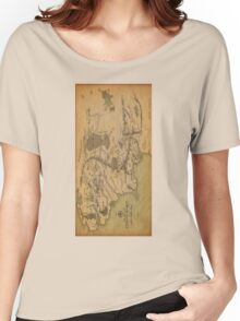 Middle Earth Map Women's Relaxed Fit T-Shirt
