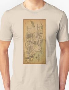 Middle Earth Map Unisex T-Shirt