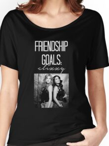 Friendship Goals; Clizzy--White Women's Relaxed Fit T-Shirt
