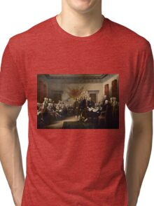 Signing The Declaration Of Independence  Tri-blend T-Shirt