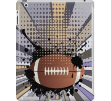 Rugby Ball on Rays Background 2 iPad Case/Skin
