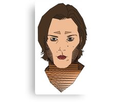Sam Winchester / Jared Padalecki Geometric Design Coloured - Supernatural Canvas Print