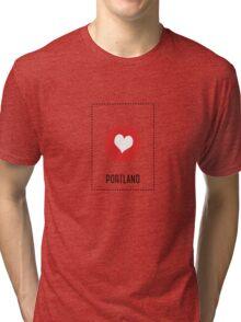 I Love Portland Tri-blend T-Shirt