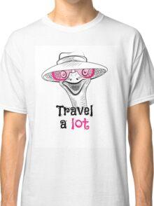 head ostrich travel a lot Classic T-Shirt