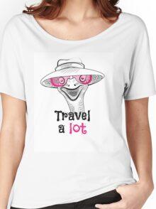 head ostrich travel a lot Women's Relaxed Fit T-Shirt