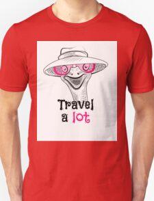 head ostrich travel a lot Unisex T-Shirt