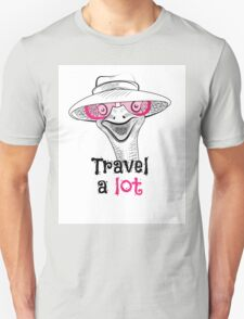 head ostrich travel a lot Unisex T-Shirt
