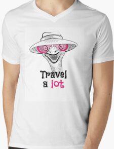 head ostrich travel a lot Mens V-Neck T-Shirt