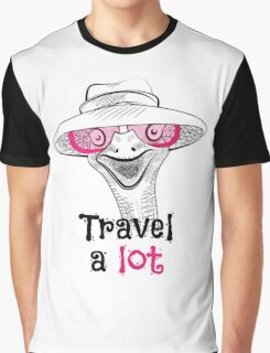 head ostrich travel a lot Graphic T-Shirt