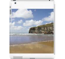 Atlantic waves on Ballybunion beach and cliffs iPad Case/Skin