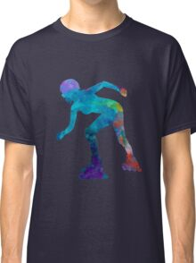 Woman in roller skates 10 in watercolor Classic T-Shirt